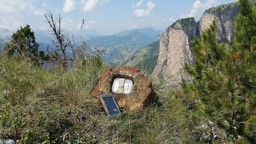 geocaching i bergslandskap